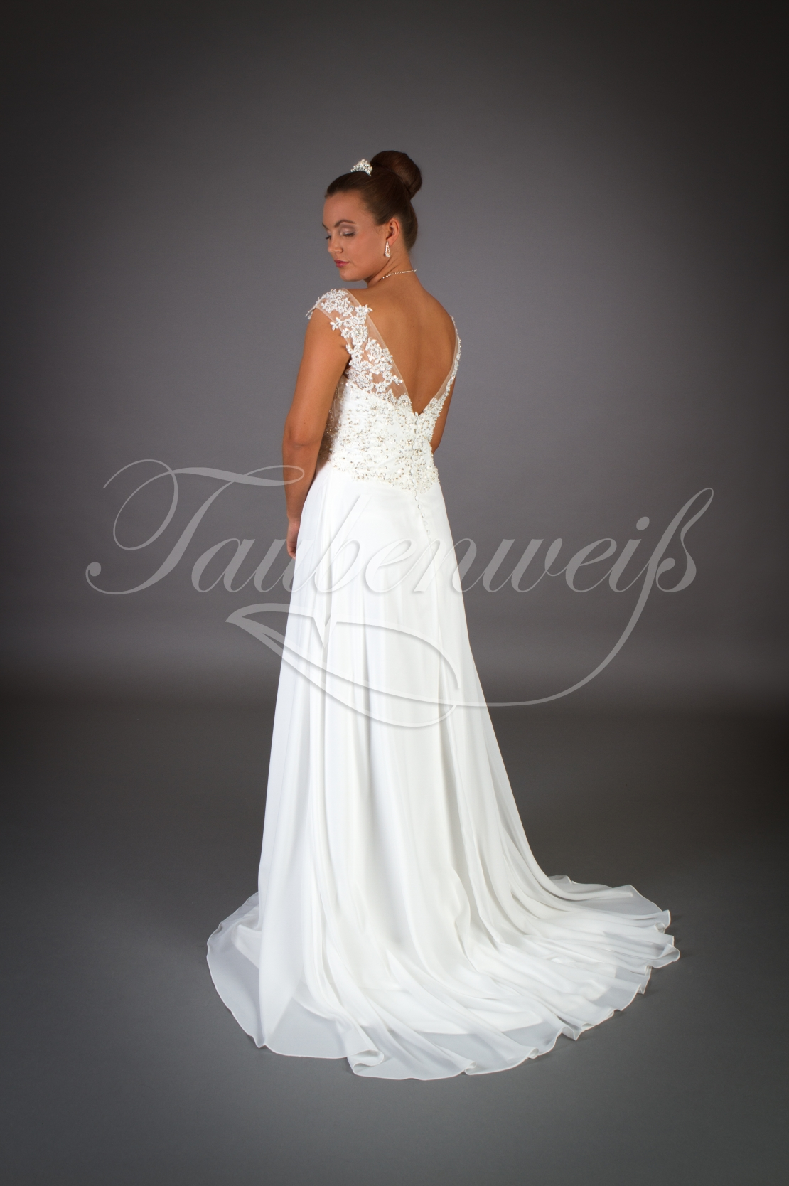 Wedding dress TW13B - Wedding dress TW13B Empire chiffon beach tattoo  lace pregnancy