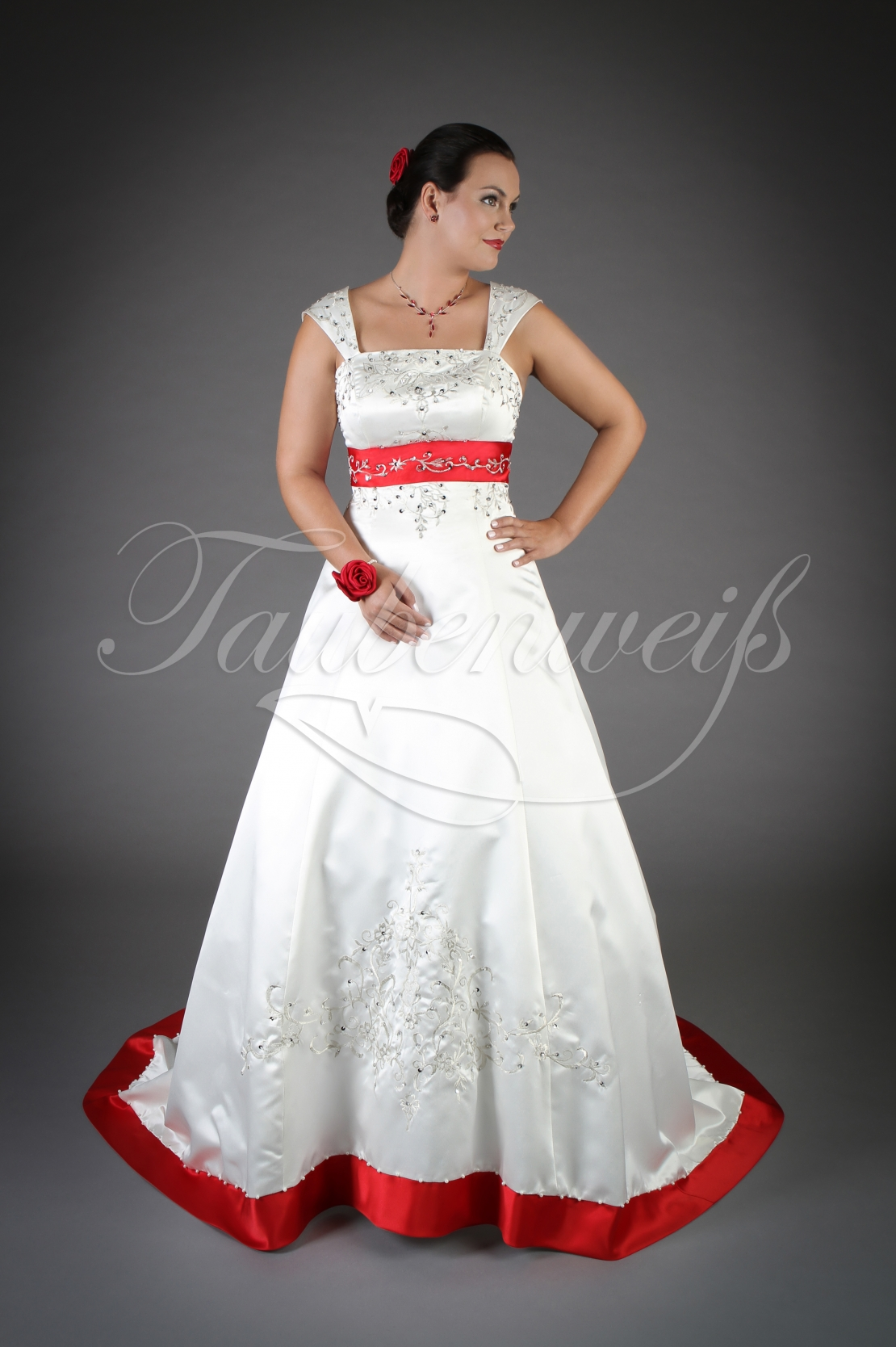 Wedding Dress Tw0077b With Red And Silver Beadings,Stylish Beautiful Dresses To Wear To A Wedding As A Guest